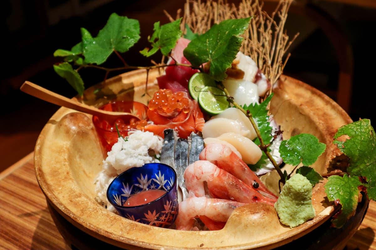 Sashimi platter in Wakayama, Japan
