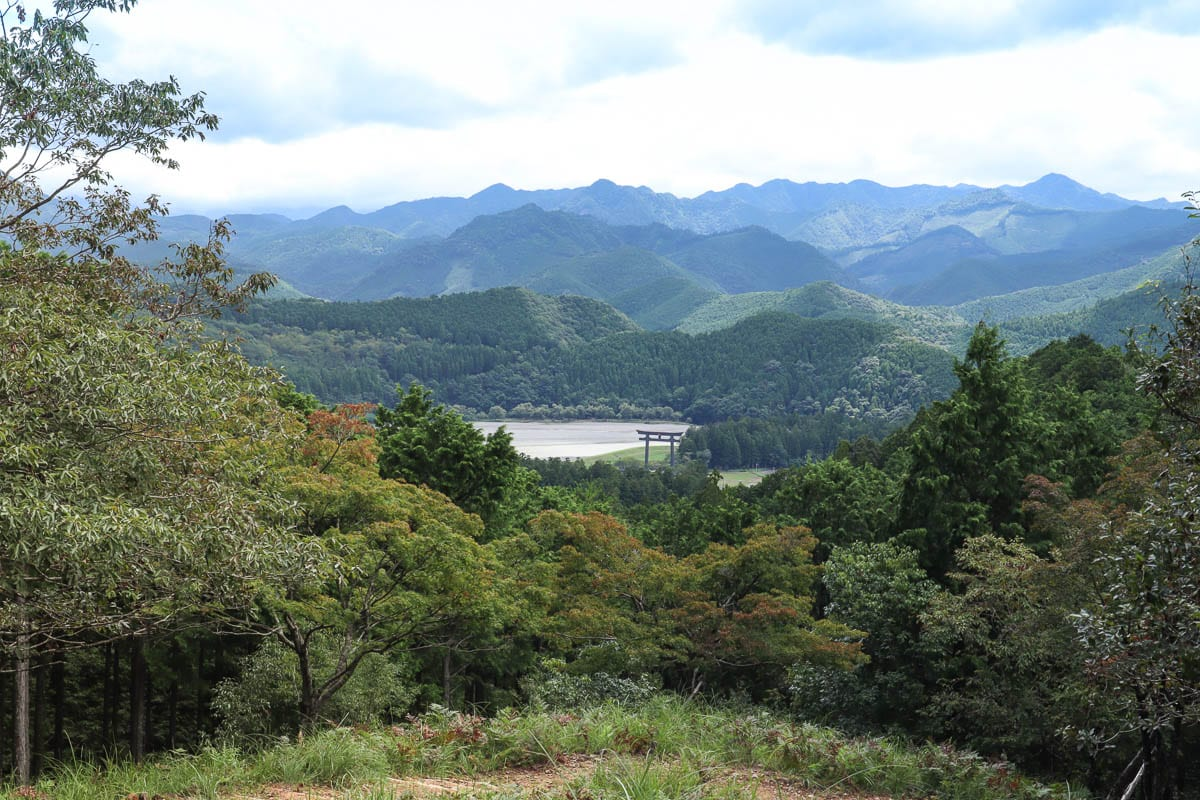 Breathtaking views on the Kumano Kodo trek, Japan