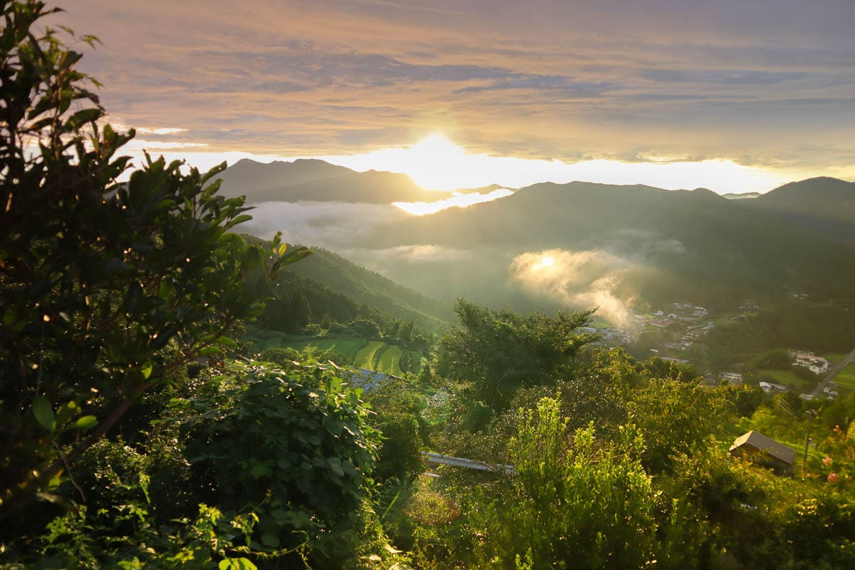 An amazing sunset from Takahara Lodge makes this a top pick for my Wakayama travel guide