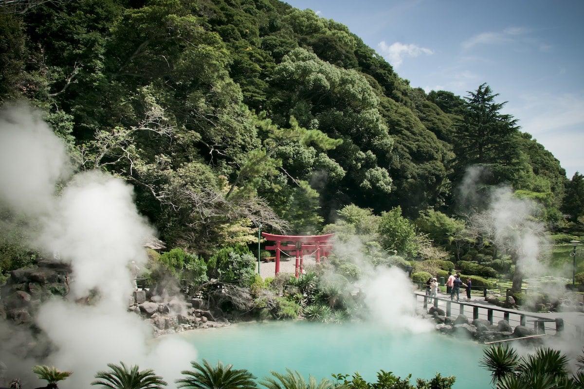 Boiling pool at Umi Jigoku in Beppu