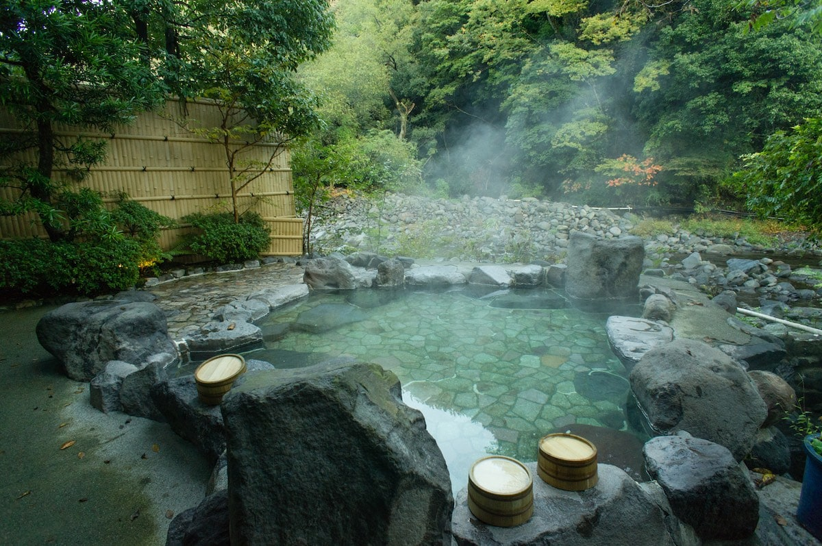 Natural hot spring bath (onsen), Hakone, Japan