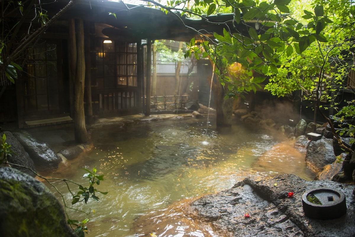 Onsen in the Kurokawa public spa, Kyushu, Japan