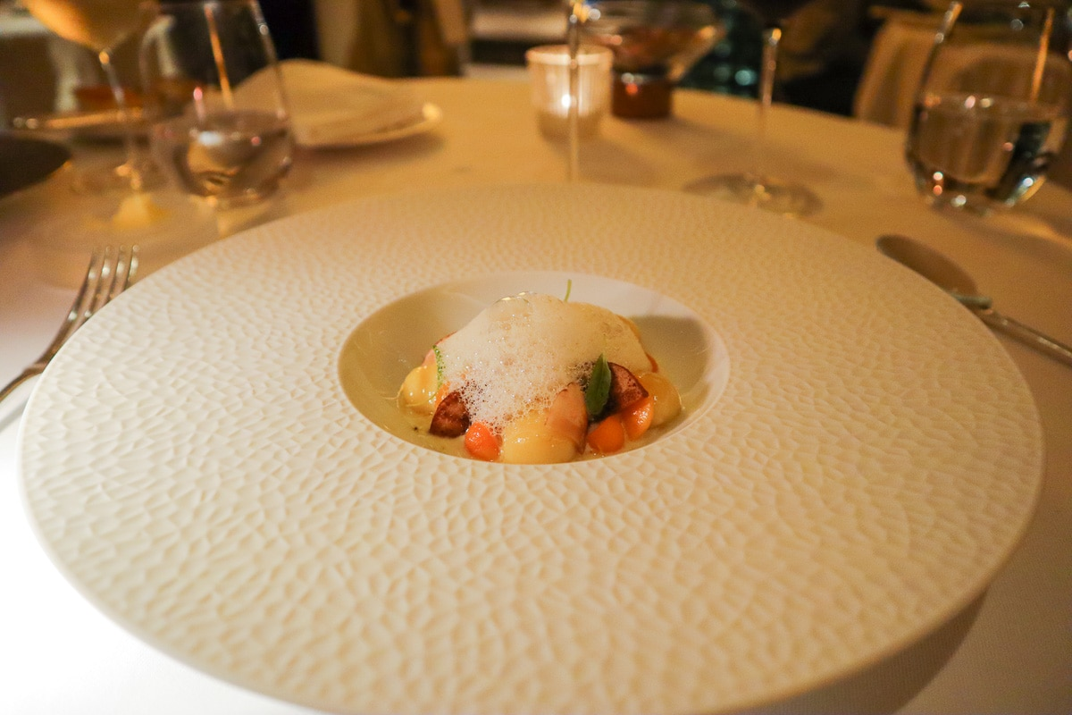 Gnocchi at Petrus Restaurant, London