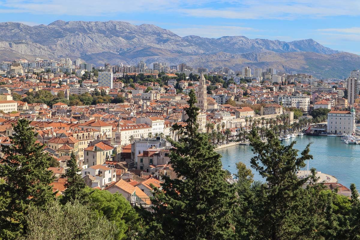 Views from Marjan Hill, Split, Croatia - one of the best views of Split