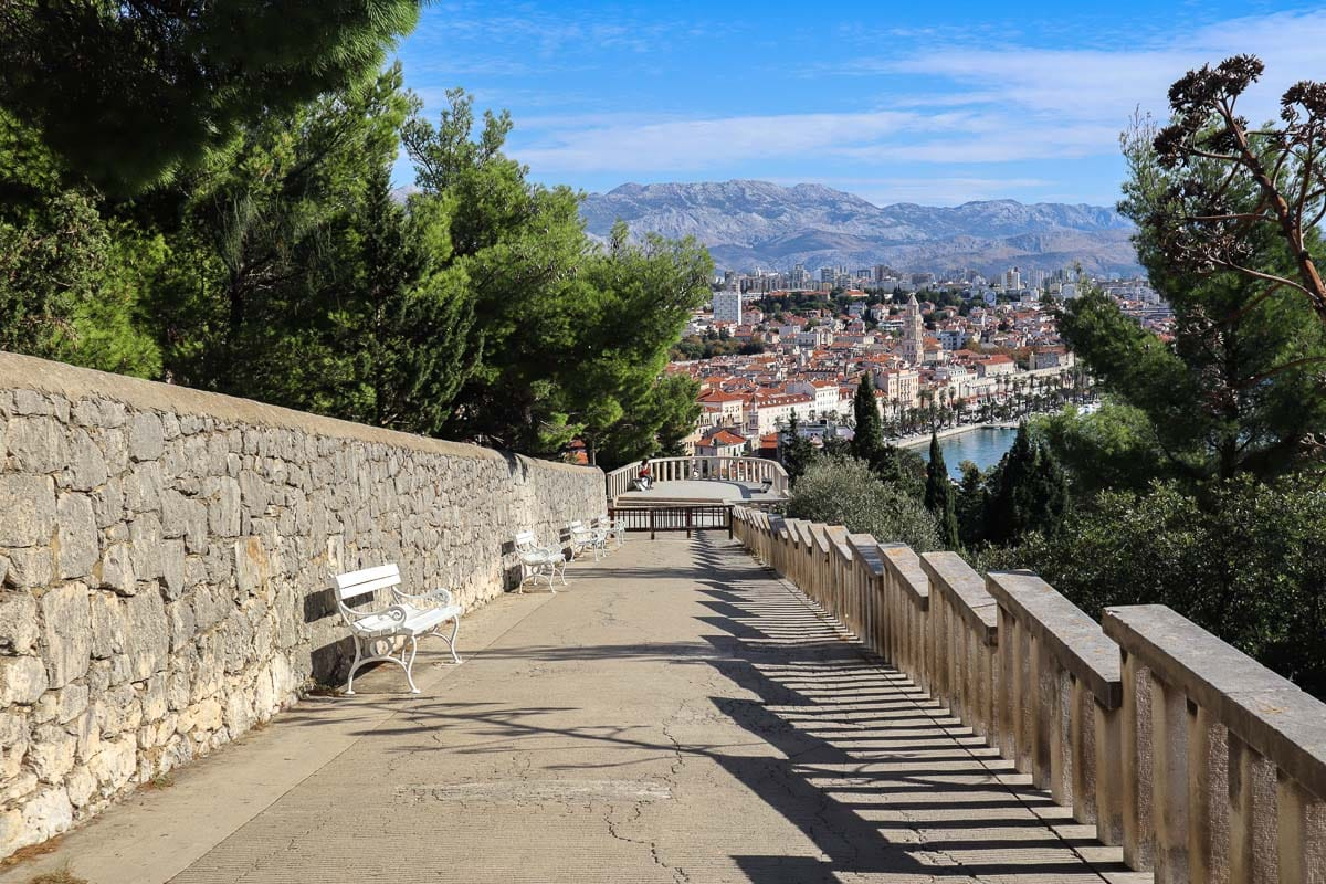 Hiking up Marjan Hill, Split, Croatia