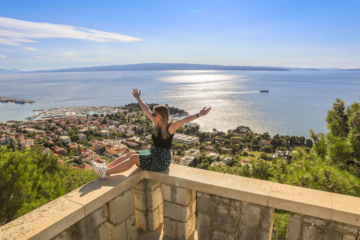 Enjoying the views from Marjan Hill, Split, Croatia