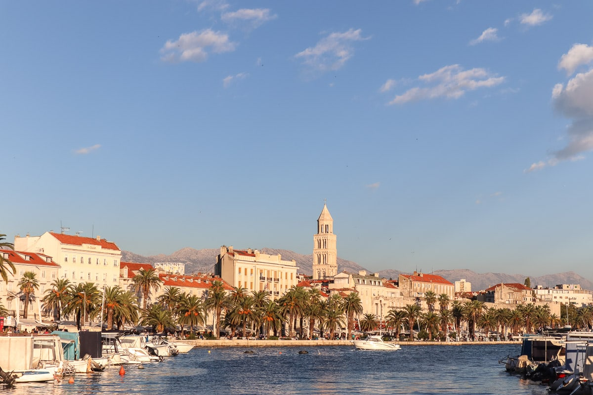 Split at sunset