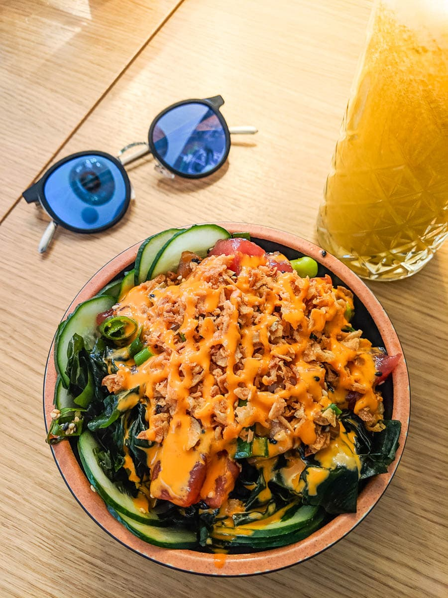Poke bowl at Maka Maka Split, Croatia