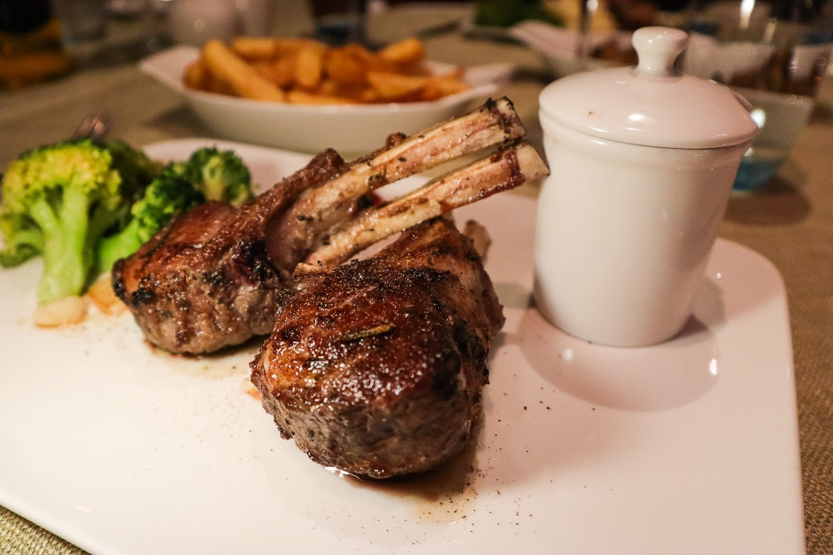 Lamb at Basilico, The Cove Rotana Resort