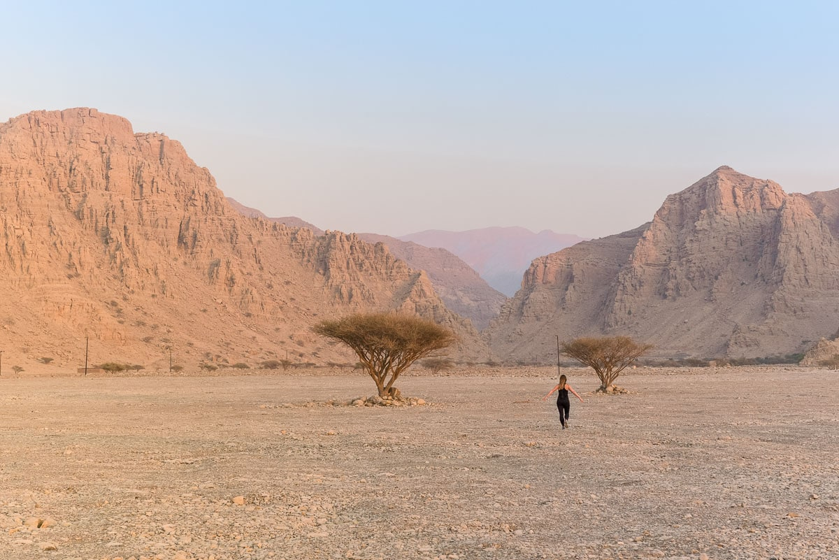 The rugged and barren landscapes of Ras Al Khaimah, UAE
