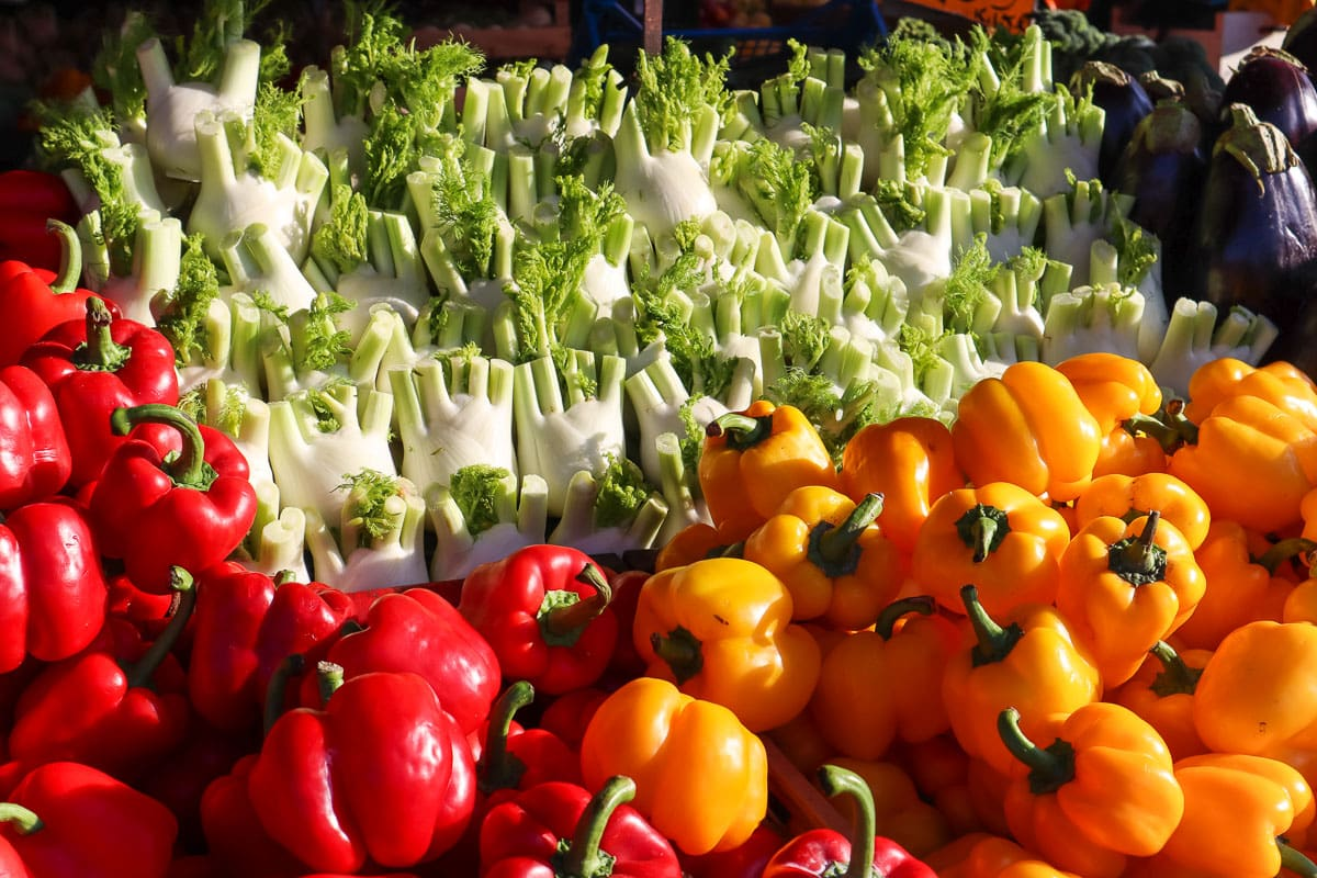 Fresh produce in Porta Palazzo Market, Turin