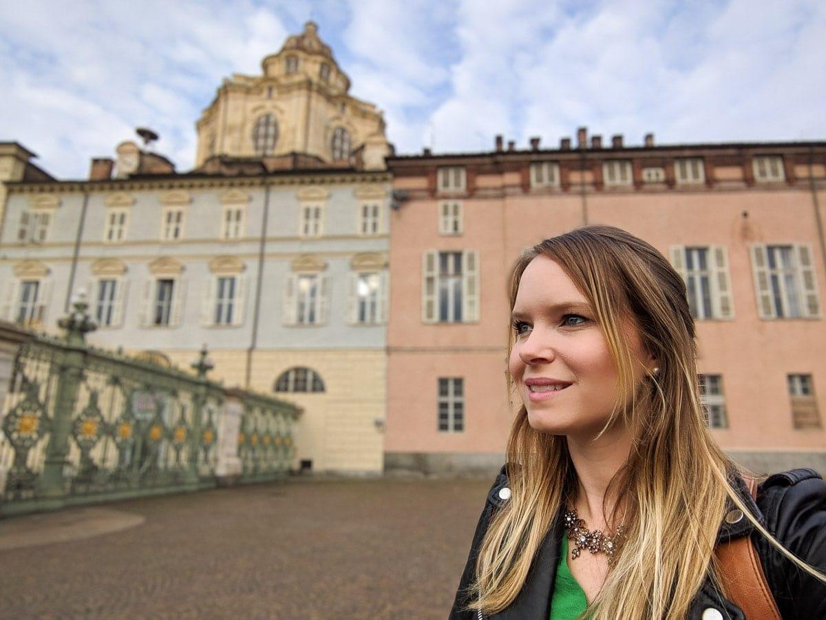 Exploring the pretty architecture in Turin, Italy