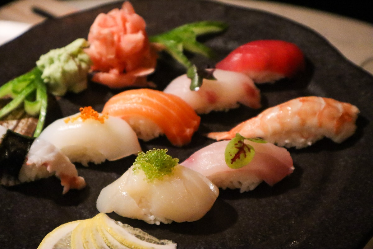 Delicious sushi in Dubai at Teatro, Towers Rotana, Dubai