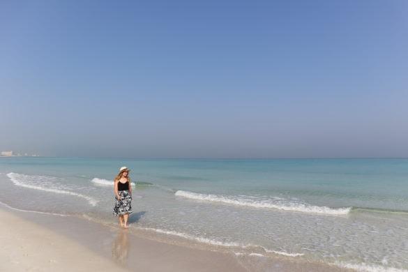 Wandering along Saadiyat Beach, Abu Dhabi