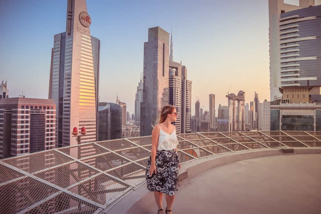 Views from the helipad at Towers Rotana, Dubai