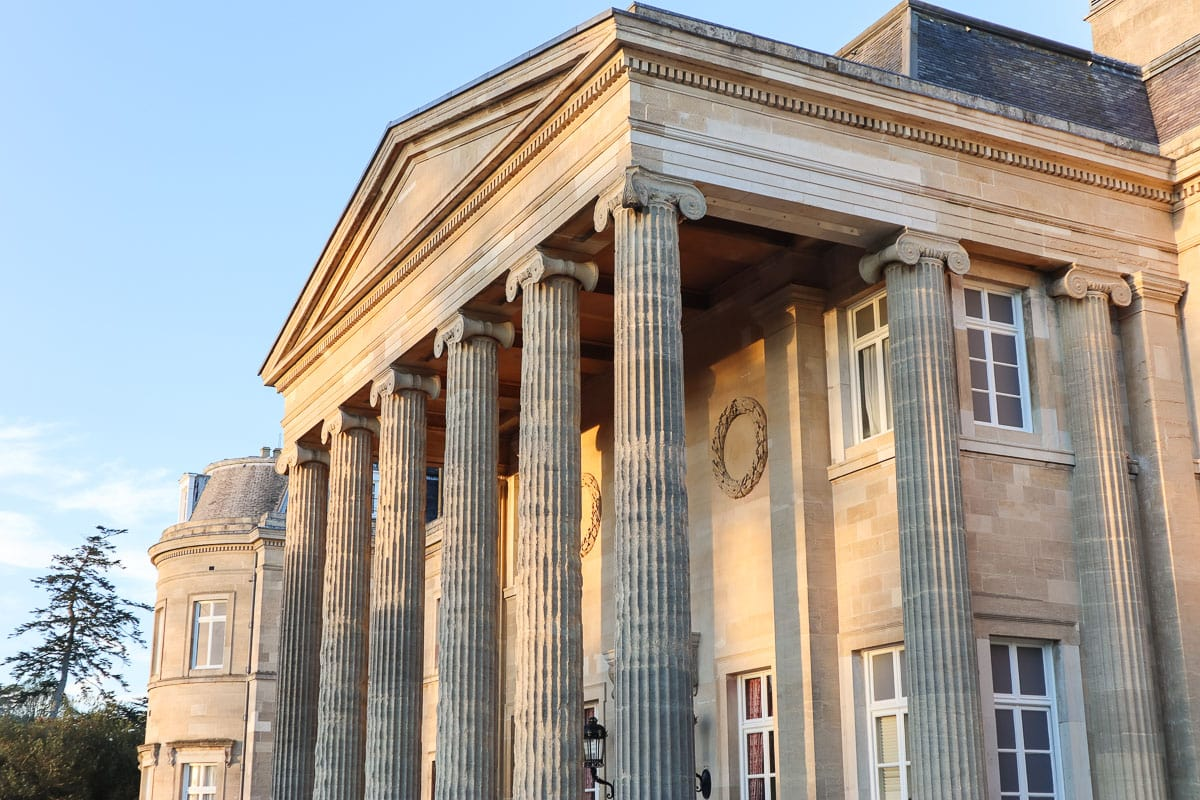 Main facade at Luton Hoo Hotel, Golf & Spa