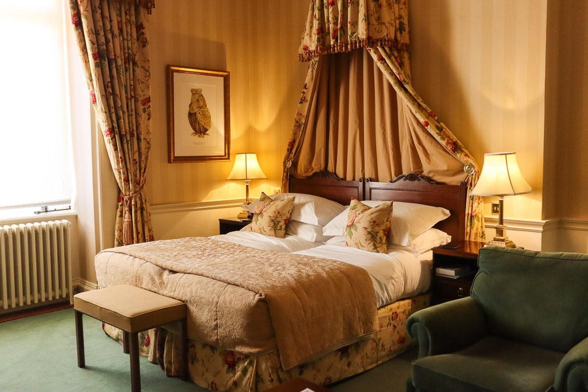 Our bedroom in the mansion at Luton Hoo Hotel