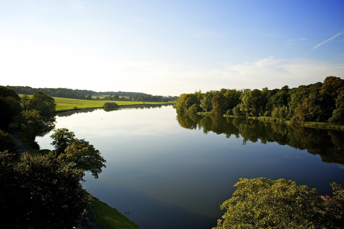 The lake at Luton Hoo