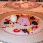 Blackberry parfait at Wernher Restaurant, Luton Hoo Hotel
