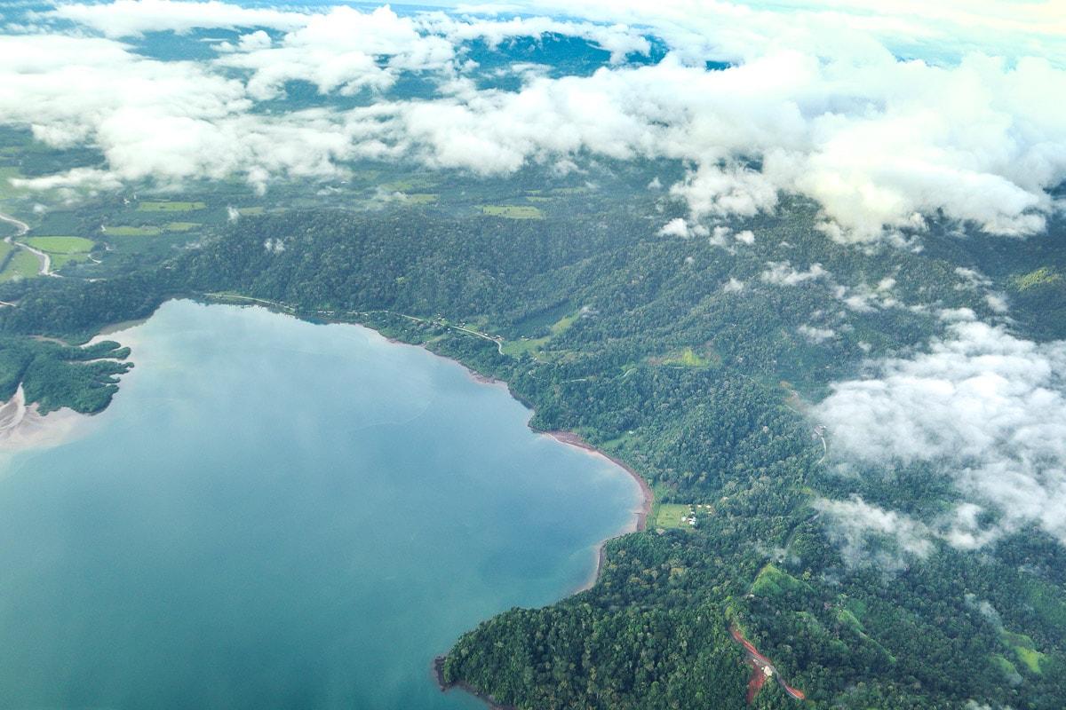 Views on the flight from Puerto Jimenez to San Jose, Costa Rica