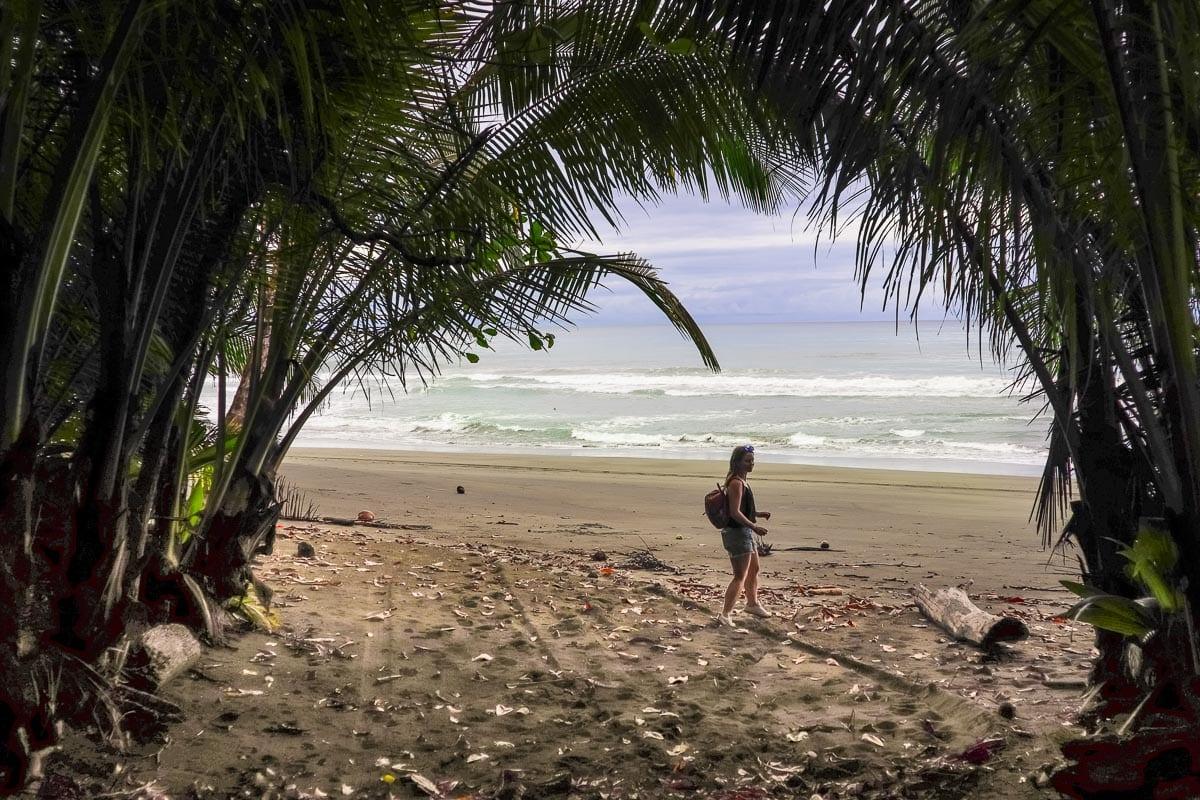 Exploring the beaches in Corcovado National Park, Costa Rica