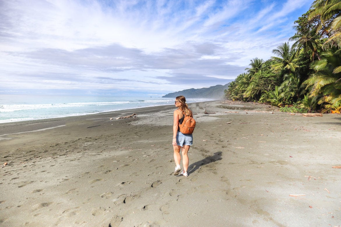 Exploring the beaches in Corcovado National Park, Costa Rica