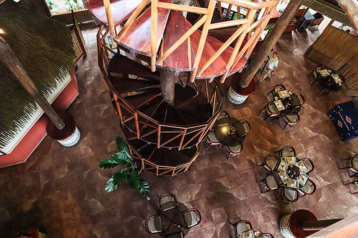 Amazing spiral staircase at Lapa Rios, Osa Peninsula