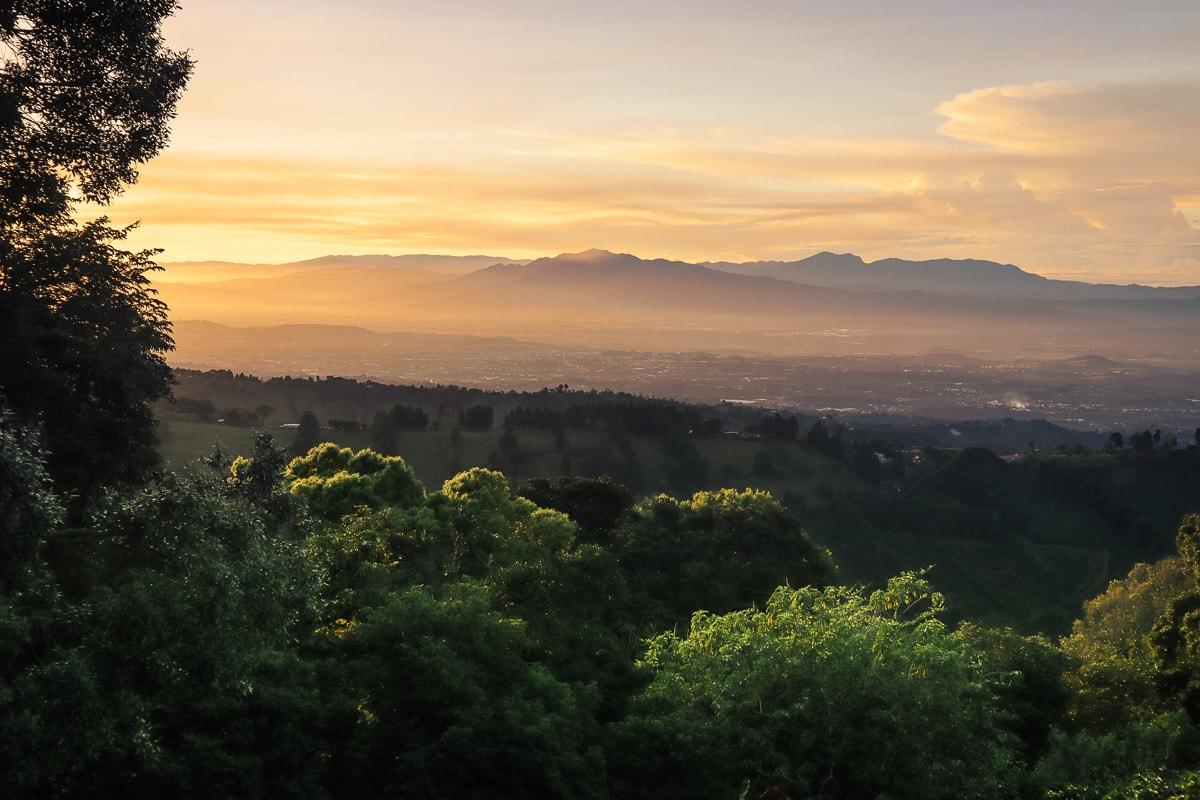 Sunrise from Chayote Lodge, Naranjo, Costa Rica