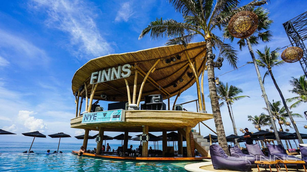 Finns Beach Club - one of the top places to visit in Canggu