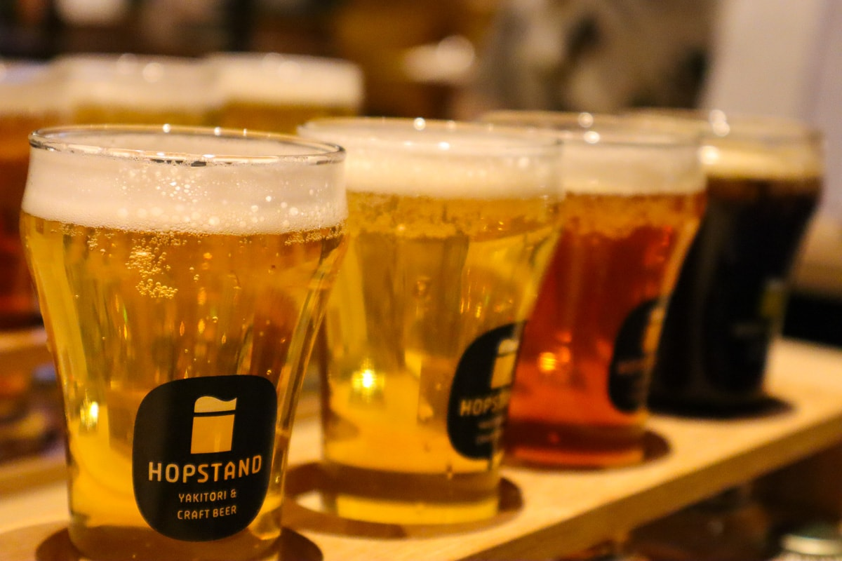 Craft beer at Hop Stand,, Kobe