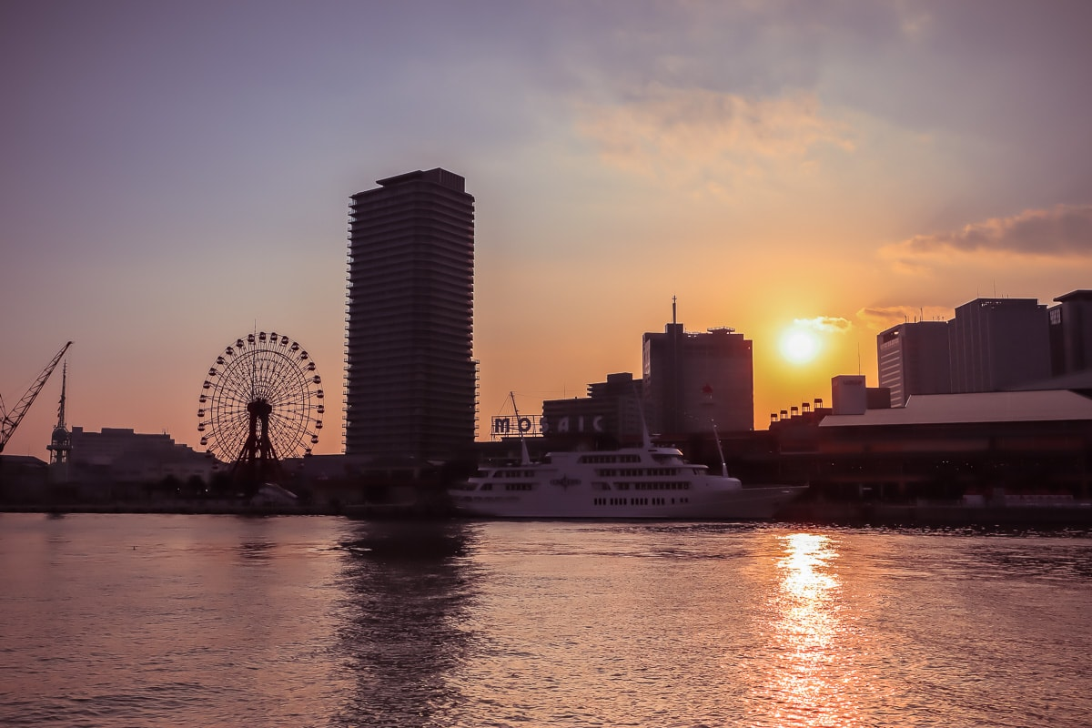 Sunset views in Kobe