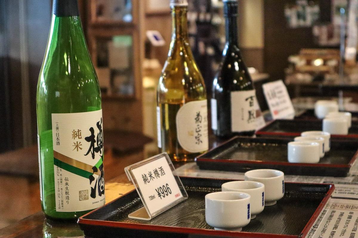 Kiku-Masamune sake tasting, Kobe