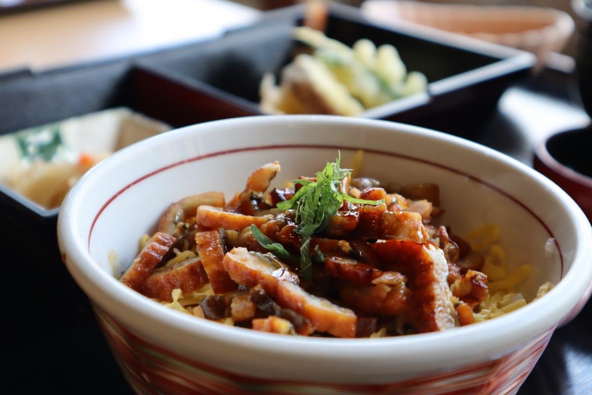 Conger eel lunch at Kassuiken Restaurant, Himeji