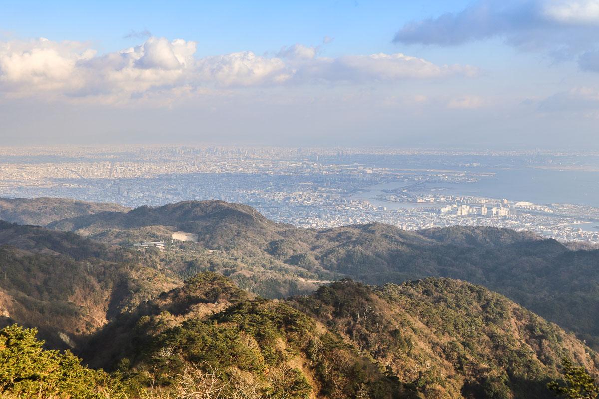Views from Rokko Garden Terrace, Mount Rokko - a great day trip from Kobe