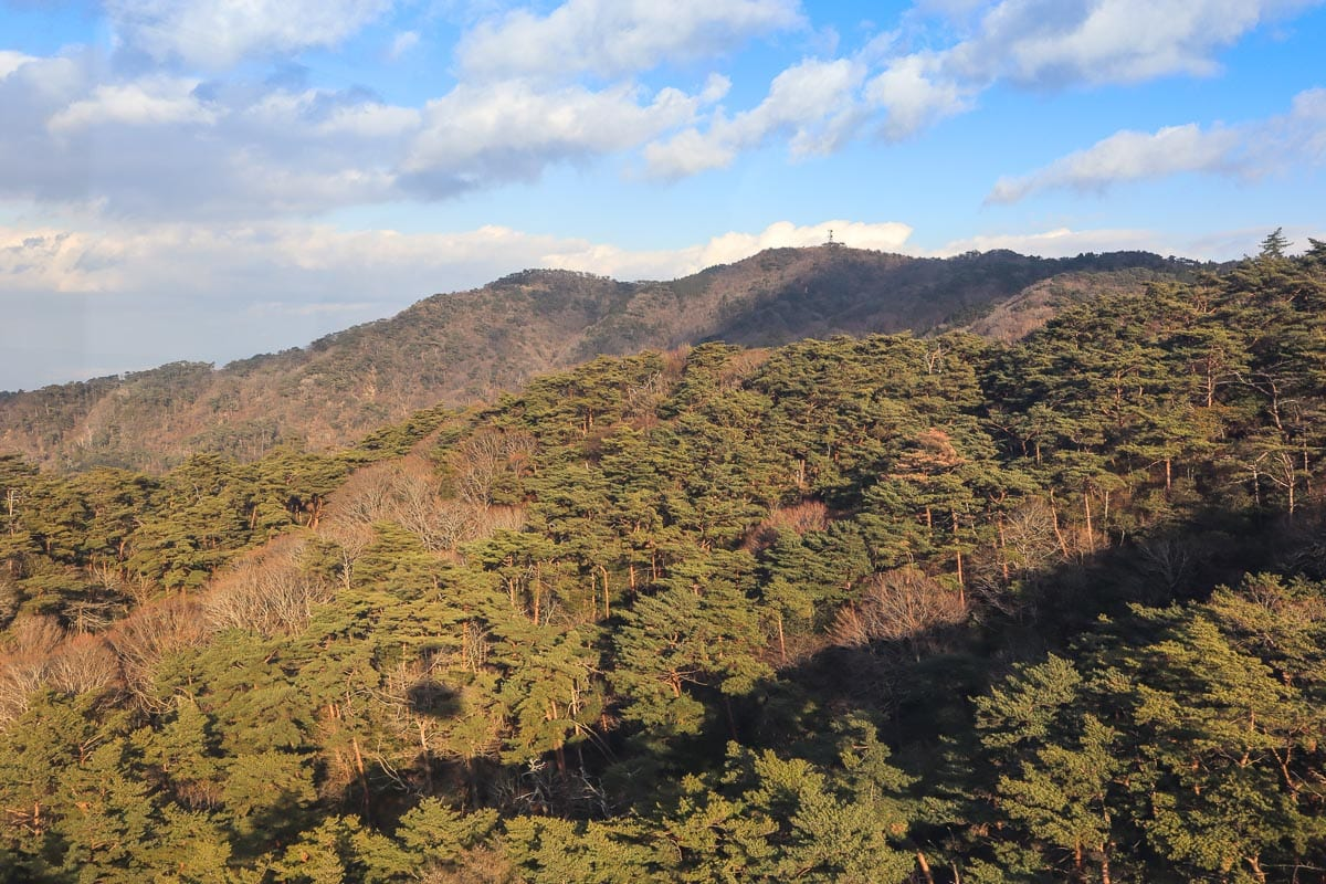 Cable car from Arima Onsen to Mount Rokko