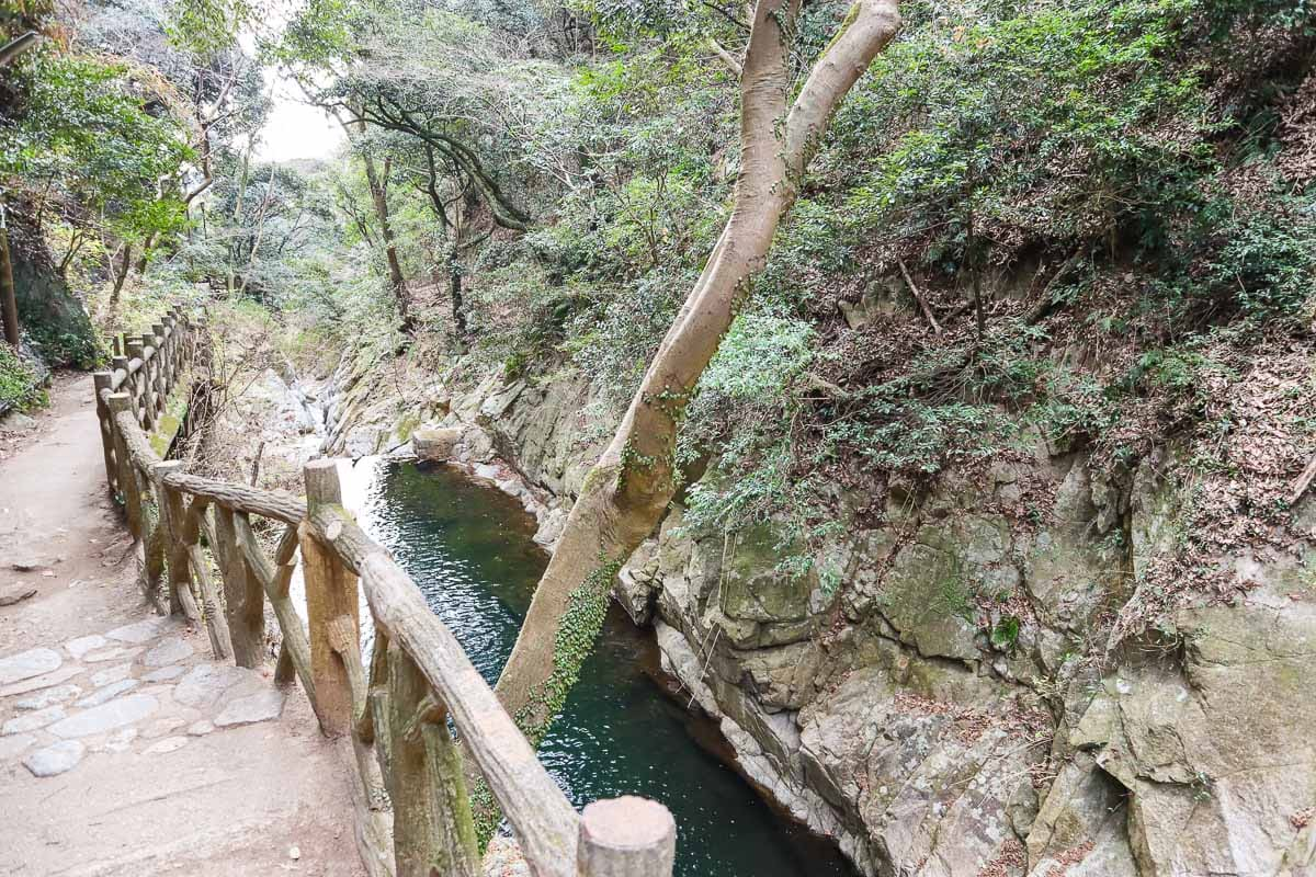 The hike to Nunobiki Falls, Kobe