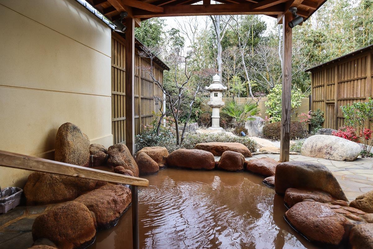 Private onsen at Hyoe Koyokaku, Arima Onsen, Japan