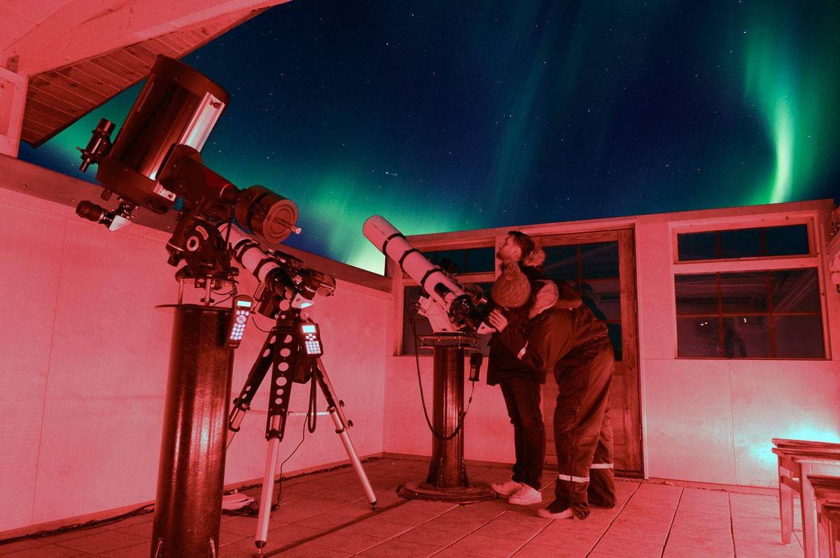 Stargazing observatory at Hotel Ranga, Iceland