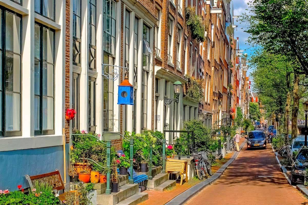 Cute streets in Jordaan, Amsterdam