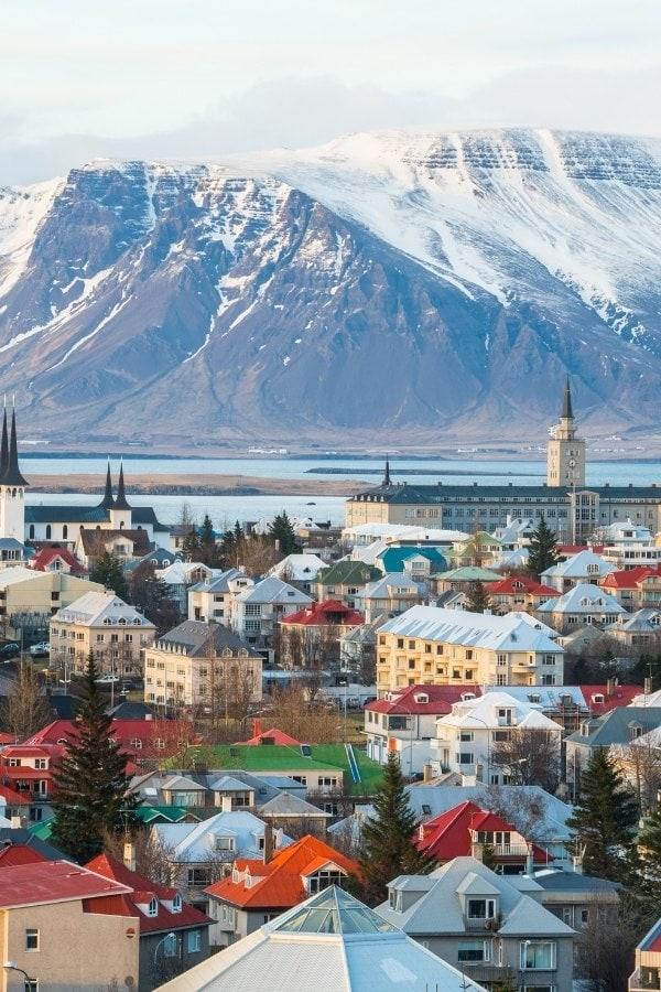 Beautiful views in Reykjavik, Iceland