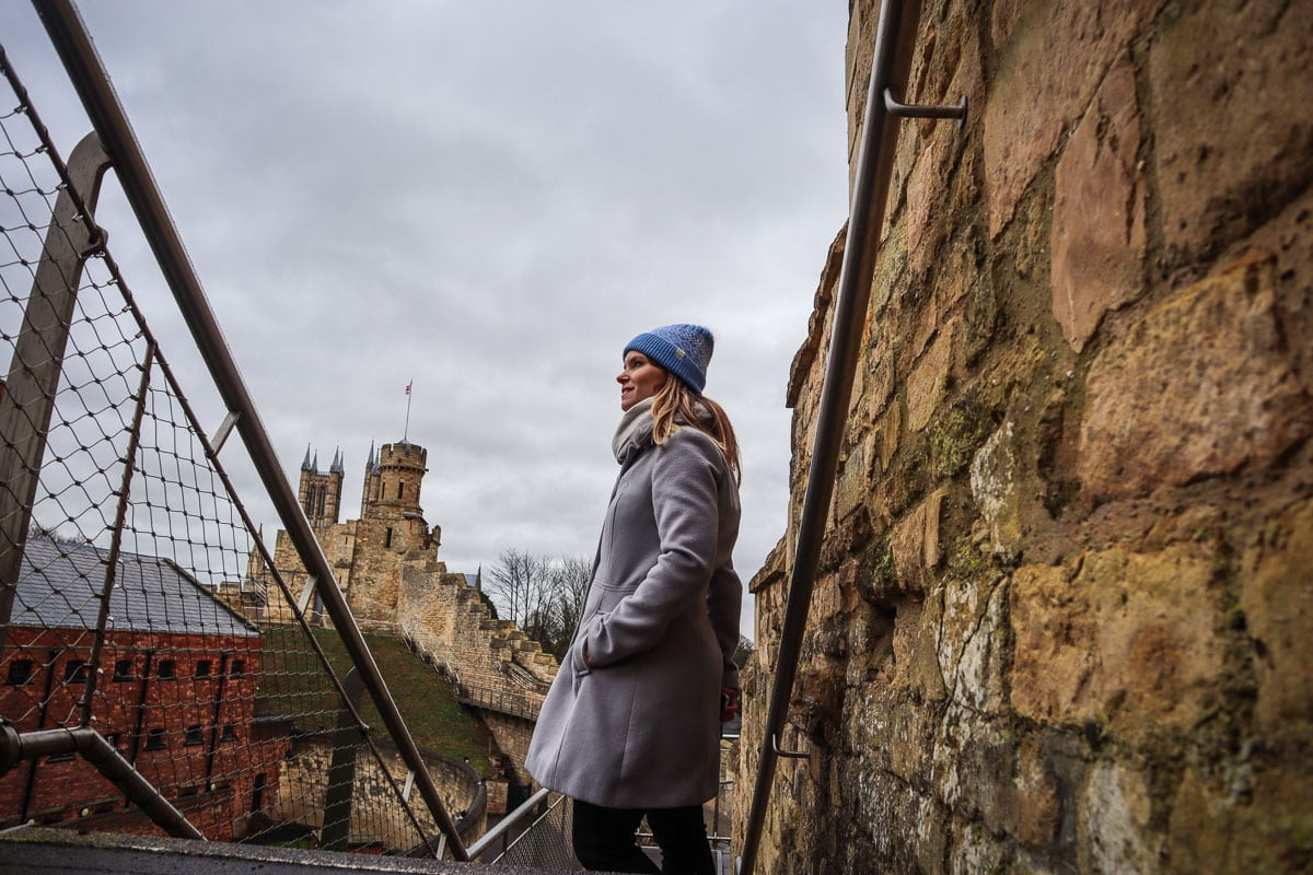 Walking Lincoln Castle Walls