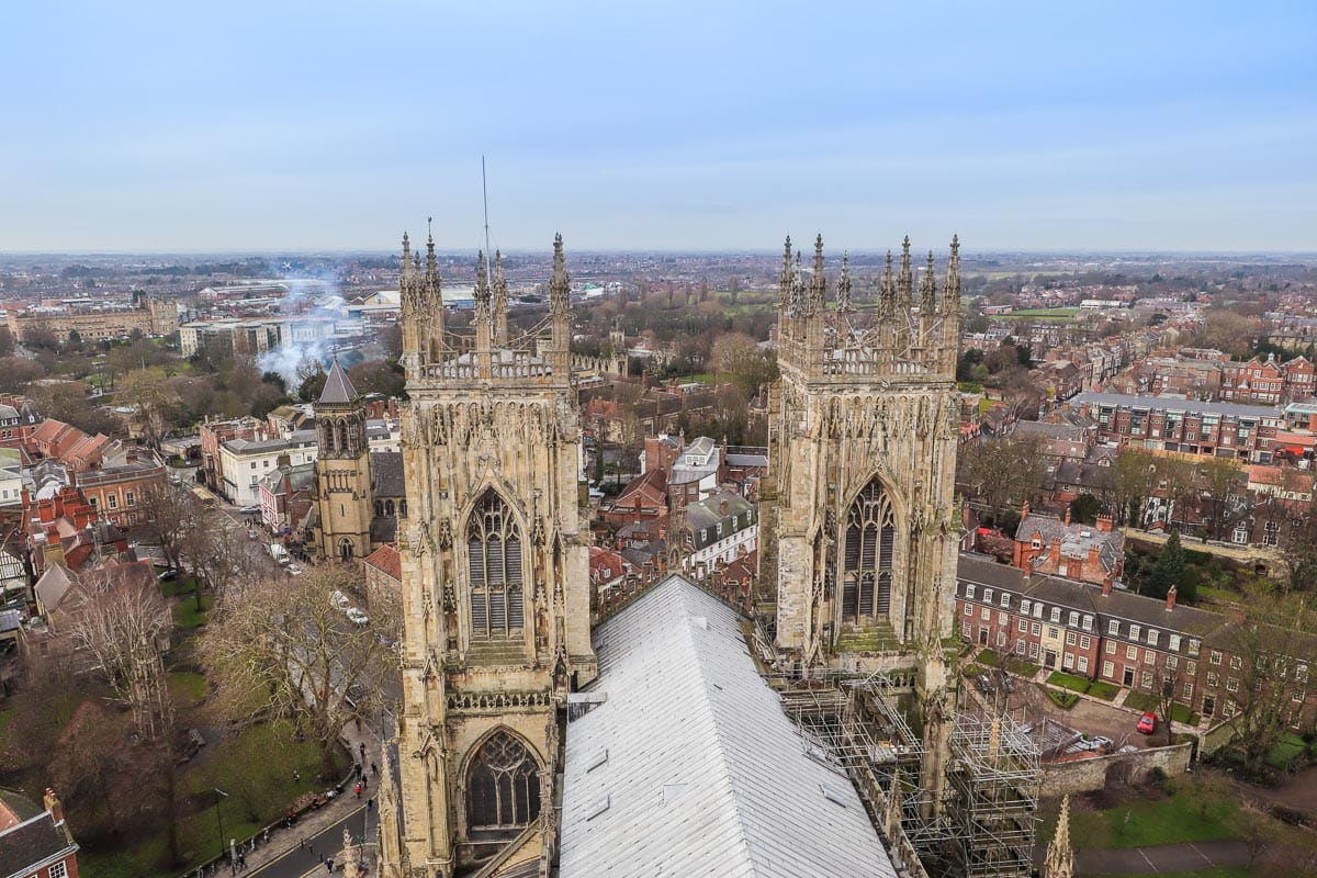 Views from York Minster tower