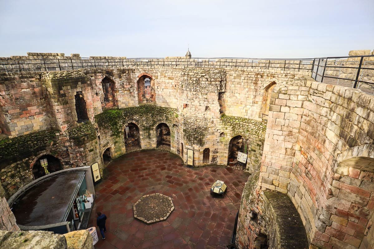 View over Clifford's Tower, York