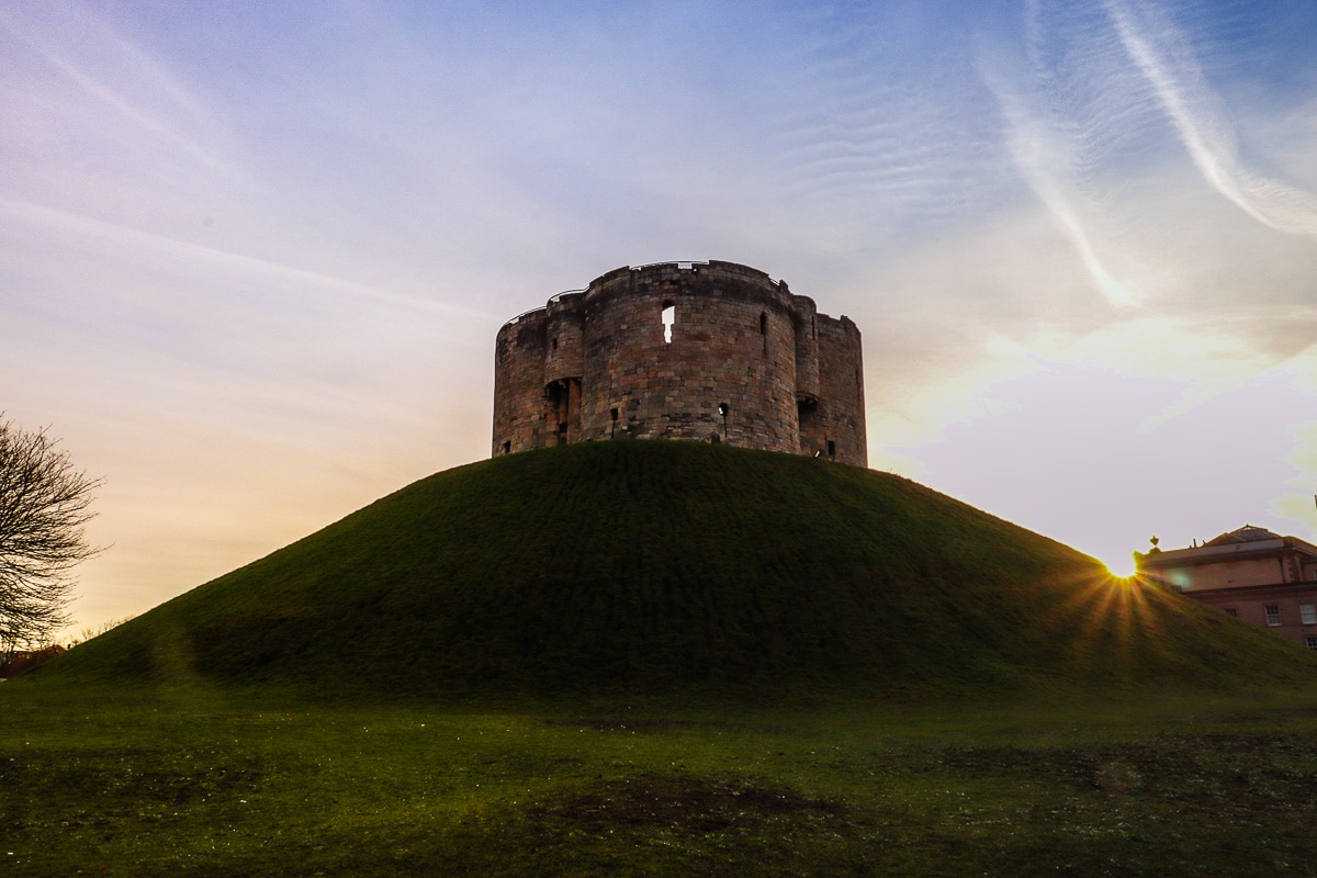 Clifford's Tower at sunrise, York