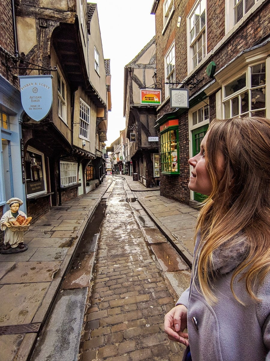 Walking along The Shambles, York