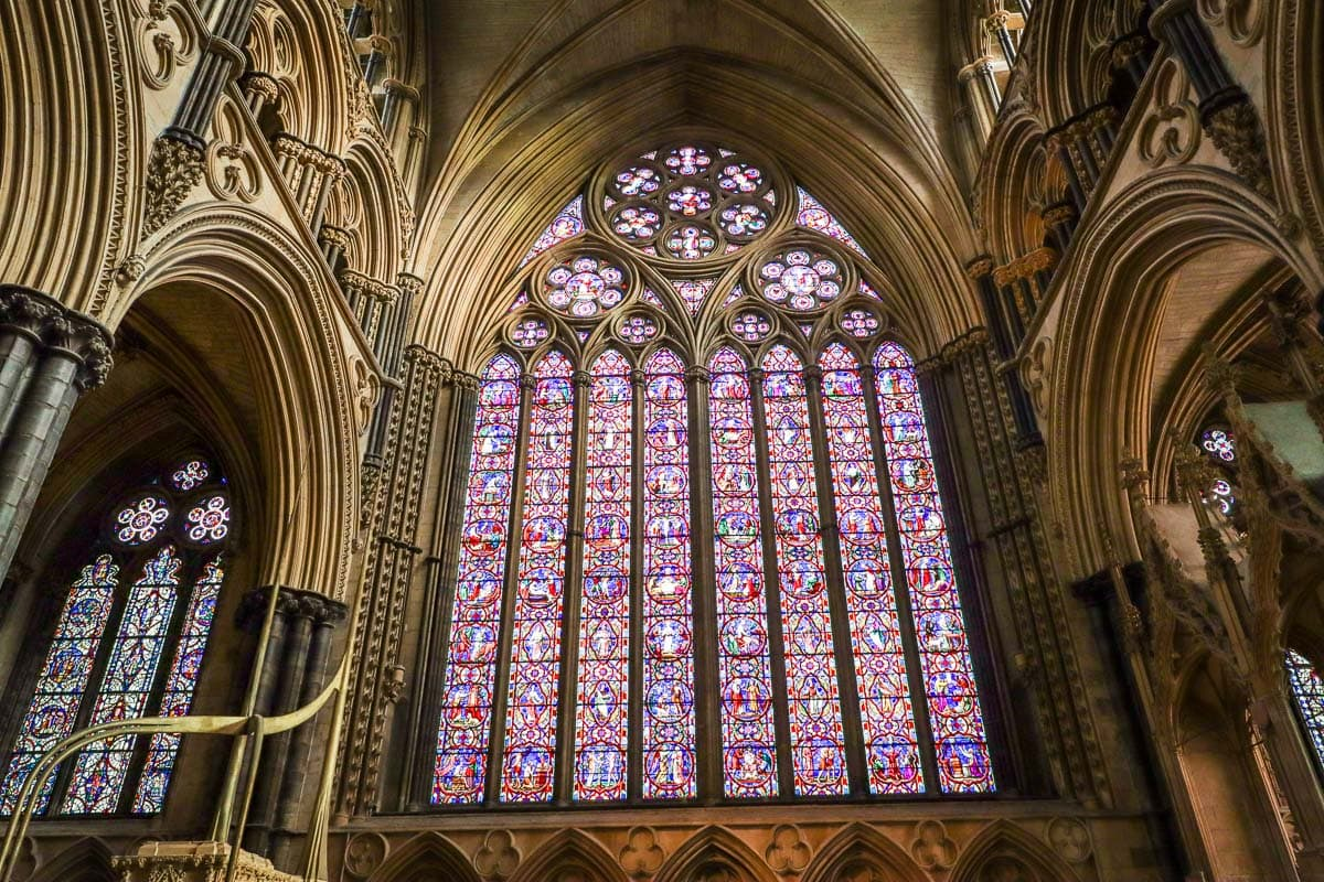 Beautiful stained glass window in York Minster