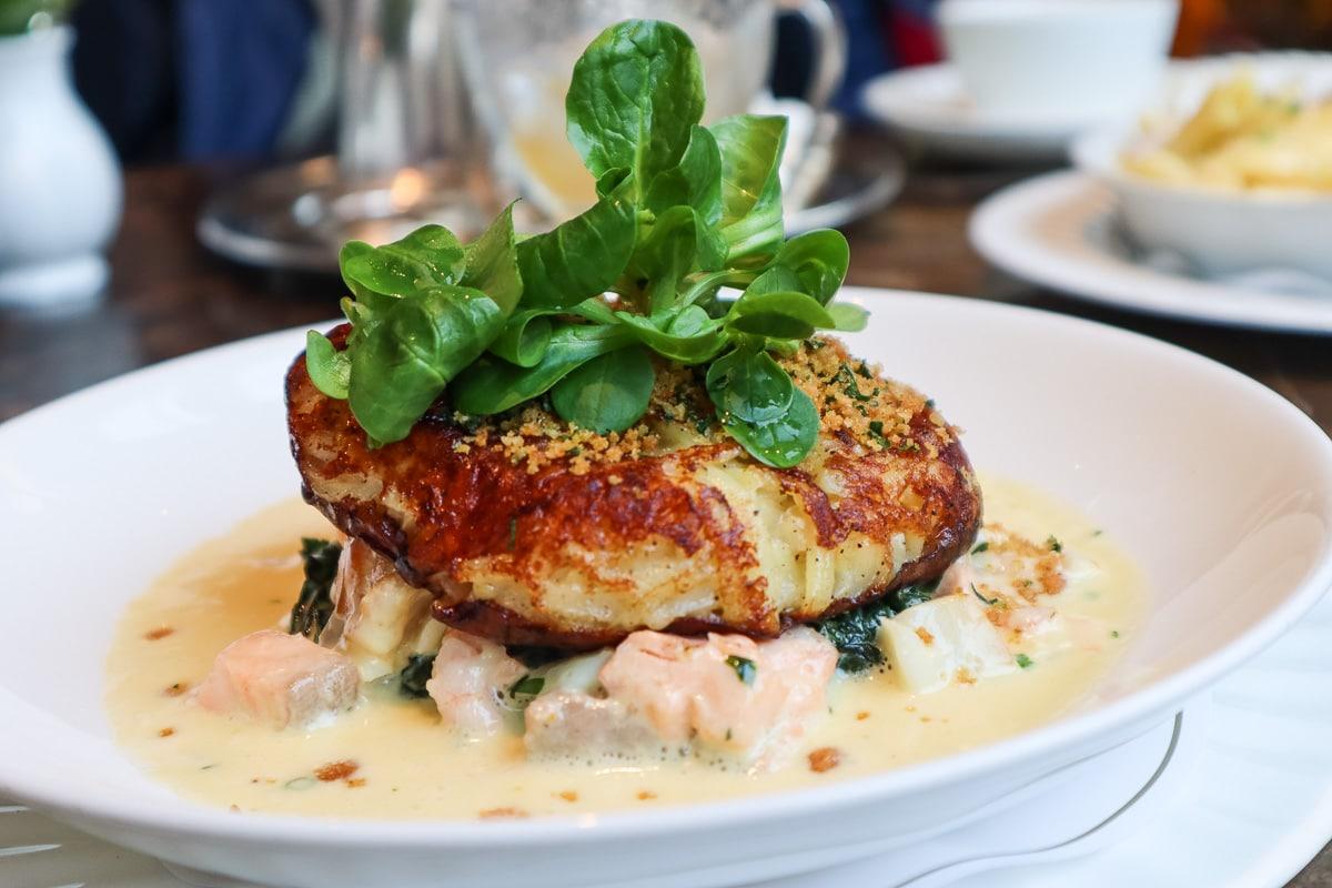Seafood gratin at Bettys, York