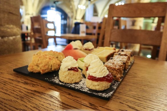 Afternoon tea at Durham Cathedral