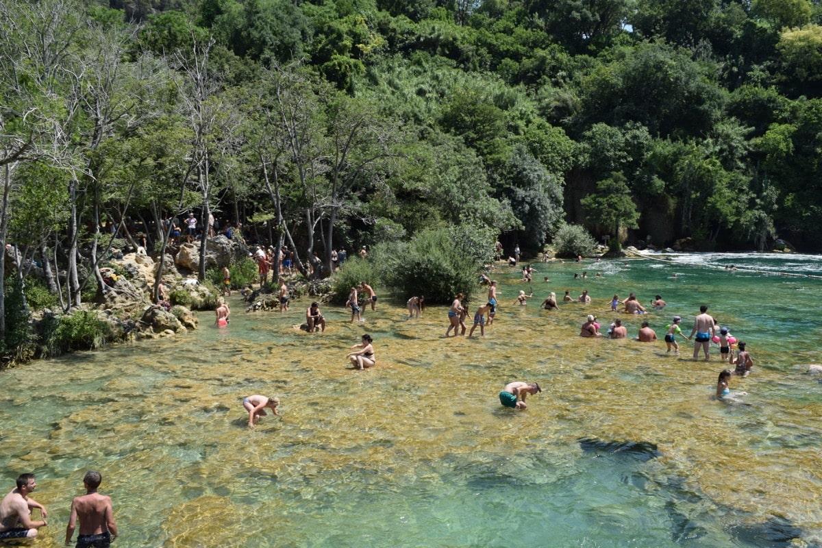 Swimming at Krka National Park, Croatia