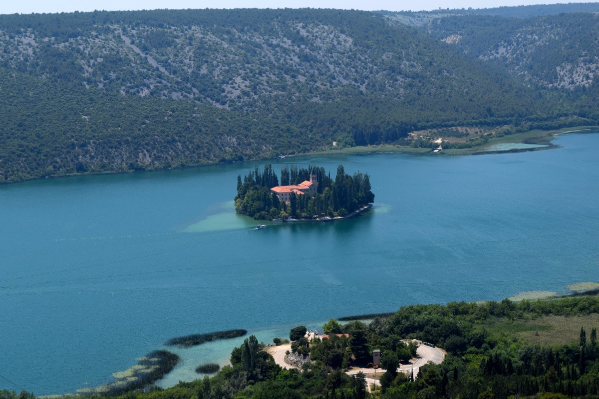 Visovac Monastery at Krka National Park Croatia